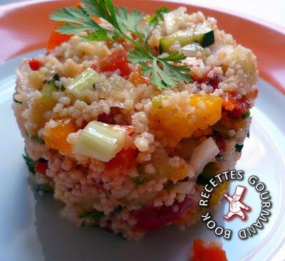 taboulé,légumes,semoule,tomates,fenouil,poivron,feuille de menthe
