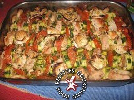 tian,légumes,chèvre,courgettes,poulet